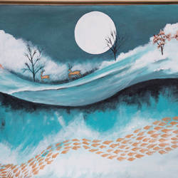 abstract painting, 36 x 24 inch, prafulla  vanmali ,36x24inch,canvas,paintings,abstract paintings,paintings for dining room,paintings for living room,paintings for bedroom,paintings for office,paintings for hotel,paintings for school,paintings for hospital,acrylic color,GAL03084746875