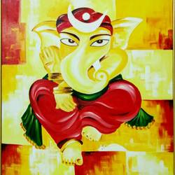 vighnharta, 24 x 30 inch, preeti misra,24x30inch,canvas,abstract paintings,religious paintings,ganesha paintings | lord ganesh paintings,paintings for dining room,paintings for living room,paintings for bedroom,paintings for office,paintings for hotel,paintings for hospital,paintings for dining room,paintings for living room,paintings for bedroom,paintings for office,paintings for hotel,paintings for hospital,oil color,GAL02658246899
