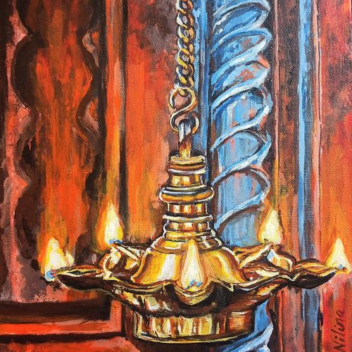 light in the darkness , 12 x 16 inch, nilina guha,12x16inch,canvas board,paintings,folk art paintings,religious paintings,still life paintings,art deco paintings,expressionism paintings,photorealism paintings,photorealism,realism paintings,paintings for dining room,paintings for living room,paintings for bedroom,paintings for office,paintings for kids room,paintings for hotel,paintings for kitchen,acrylic color,GAL02203046909