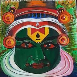 kathakali, 12 x 17 inch, kamakshi kannan,12x17inch,thick paper,paintings,religious paintings,paintings for living room,paintings for living room,watercolor,paper,GAL02860646936