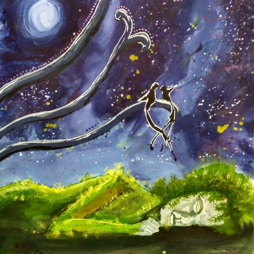 sleeping nature, 10 x 13 inch, anirban  kar,nature paintings,paintings for bedroom,cartridge paper,poster color,10x13inch,GAL015604694Nature,environment,Beauty,scenery,greenery
