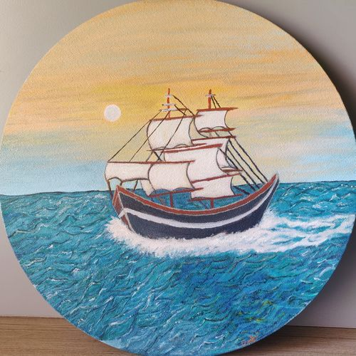 ship painting, 12 x 12 inch, prachi sharma,12x12inch,canvas,landscape paintings,conceptual paintings,still life paintings,nature paintings | scenery paintings,art deco paintings,illustration paintings,contemporary paintings,paintings for dining room,paintings for living room,paintings for bedroom,paintings for office,paintings for kids room,paintings for hotel,paintings for dining room,paintings for living room,paintings for bedroom,paintings for office,paintings for kids room,paintings for hotel,acrylic color,GAL03325746943