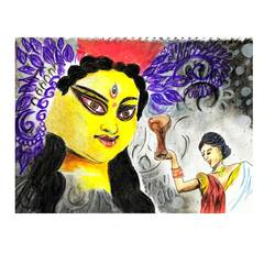 trust maa durga she will be behind you. , 27 x 20 inch, isha ray,27x20inch,paper,drawings,paintings for living room,paintings for hotel,paintings for hospital,kids drawings,paintings for living room,paintings for hotel,paintings for hospital,acrylic color,natural color,oil color,pastel color,GAL03390346945