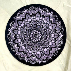 purple mandala, 10 x 10 inch, tanya lalwani,10x10inch,wood board,paintings,paintings for dining room,paintings for living room,paintings for bedroom,paintings for office,acrylic color,GAL03390946954