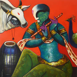 the mesmerizing tunes 13, 36 x 42 inch, anupam  pal,36x42inch,canvas,paintings,abstract paintings,figurative paintings,flower paintings,foil paintings,modern art paintings,conceptual paintings,religious paintings,abstract expressionism paintings,art deco paintings,cubism paintings,realism paintings,surrealism paintings,animal paintings,radha krishna paintings,realistic paintings,love paintings,paintings for dining room,paintings for living room,paintings for bedroom,paintings for office,paintings for bathroom,paintings for kids room,paintings for kitchen,paintings for school,paintings for hospital,acrylic color,GAL08246976