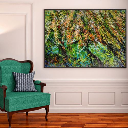 let birds sing, 37 x 32 inch, anuja saxena,37x32inch,canvas,paintings,abstract paintings,flower paintings,modern art paintings,nature paintings | scenery paintings,abstract expressionism paintings,impressionist paintings,paintings for dining room,paintings for living room,paintings for bedroom,paintings for office,paintings for kids room,paintings for hotel,paintings for school,paintings for hospital,oil color,GAL03393046985