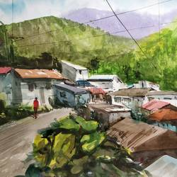 nature , 22 x 13 inch, soyli saha,22x13inch,thick paper,paintings,nature paintings | scenery paintings,paintings for dining room,paintings for living room,paintings for bedroom,paintings for office,paintings for bathroom,paintings for kids room,paintings for hotel,paintings for kitchen,paintings for school,watercolor,GAL0606546998