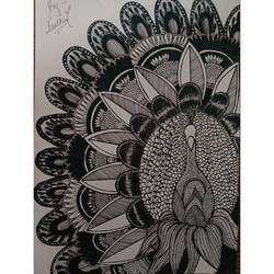 peacock, 8 x 12 inch, aastha gupta,8x12inch,paper,drawings,paintings for dining room,paintings for living room,paintings for bedroom,illustration drawings,paintings for dining room,paintings for living room,paintings for bedroom,ball point pen,paper,GAL03396247002