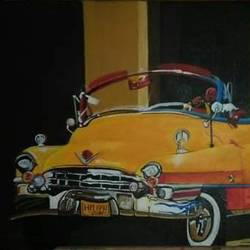 car, 20 x 36 inch, jahan ara,20x36inch,canvas,cityscape paintings,paintings for dining room,paintings for living room,paintings for bedroom,paintings for office,paintings for dining room,paintings for living room,paintings for bedroom,paintings for office,oil color,GAL03398147038