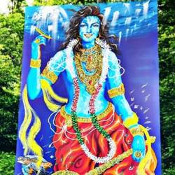 narayana, 47 x 92 inch, shiuli majumder,47x92inch,canvas,paintings,wildlife paintings,religious paintings,nature paintings | scenery paintings,contemporary paintings,realistic paintings,paintings for dining room,paintings for living room,paintings for bedroom,paintings for office,paintings for kids room,paintings for hotel,paintings for kitchen,paintings for school,acrylic color,GAL01355247047