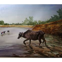 afternoon, 28 x 22 inch, soyli saha,28x22inch,thick paper,paintings,nature paintings | scenery paintings,realism paintings,animal paintings,paintings for dining room,paintings for living room,paintings for bedroom,paintings for office,paintings for bathroom,paintings for kids room,paintings for hotel,paintings for kitchen,paintings for school,paintings for hospital,watercolor,GAL0606547056