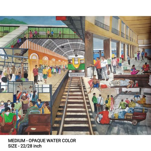 station, 28 x 22 inch, soyli saha,28x22inch,thick paper,paintings,modern art paintings,multi piece paintings,conceptual paintings,paintings for dining room,paintings for living room,paintings for bedroom,paintings for office,paintings for bathroom,paintings for kids room,paintings for hotel,paintings for kitchen,paintings for school,paintings for hospital,poster color,GAL0606547058