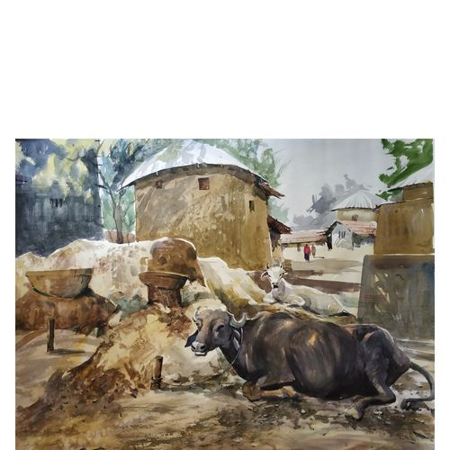 village, 28 x 22 inch, soyli saha,28x22inch,thick paper,animal paintings,paintings for dining room,paintings for living room,paintings for bedroom,paintings for office,paintings for bathroom,paintings for kids room,paintings for hotel,paintings for kitchen,paintings for school,paintings for hospital,paintings for dining room,paintings for living room,paintings for bedroom,paintings for office,paintings for bathroom,paintings for kids room,paintings for hotel,paintings for kitchen,paintings for school,paintings for hospital,watercolor,GAL0606547061