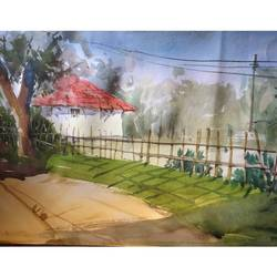 house, 22 x 13 inch, soyli saha,22x13inch,thick paper,paintings,religious paintings,nature paintings   scenery paintings,paintings for dining room,paintings for living room,paintings for bedroom,paintings for office,paintings for bathroom,paintings for kids room,paintings for hotel,paintings for kitchen,paintings for school,paintings for hospital,watercolor,GAL0606547070