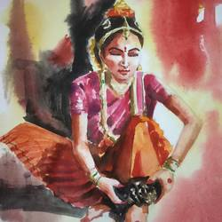dance, 11 x 13 inch, soyli saha,11x13inch,thick paper,paintings,figurative paintings,paintings for dining room,paintings for living room,paintings for bedroom,paintings for office,paintings for bathroom,paintings for kids room,paintings for hotel,paintings for kitchen,paintings for school,paintings for hospital,watercolor,GAL0606547088