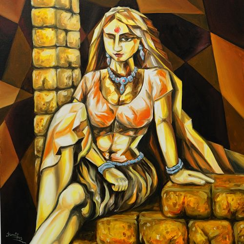 untitled, 24 x 30 inch, isha  paintings,24x30inch,canvas,figurative paintings,modern art paintings,expressionism paintings,paintings for living room,paintings for bedroom,paintings for office,paintings for living room,paintings for bedroom,paintings for office,oil color,GAL03328547092