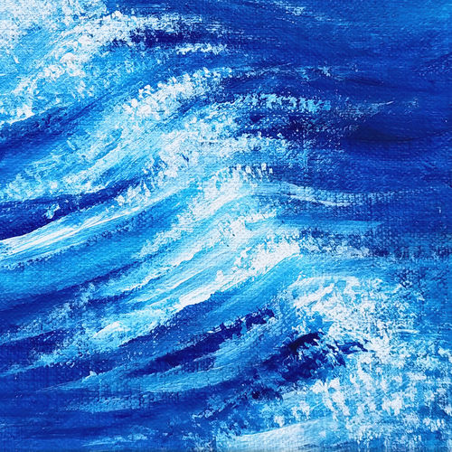 blue waves, 7 x 5 inch, asha shenoy,7x5inch,canvas board,nature paintings | scenery paintings,paintings for dining room,paintings for living room,paintings for office,paintings for kids room,paintings for hotel,paintings for school,paintings for hospital,paintings for dining room,paintings for living room,paintings for office,paintings for kids room,paintings for hotel,paintings for school,paintings for hospital,acrylic color,GAL0865247111