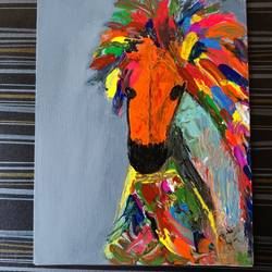 abstract horse art, 12 x 10 inch, saloni sharma,12x10inch,canvas,paintings,abstract paintings,modern art paintings,abstract expressionism paintings,animal paintings,horse paintings,paintings for dining room,paintings for living room,paintings for bedroom,paintings for office,paintings for kids room,paintings for hotel,paintings for school,acrylic color,GAL03400547123