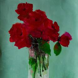 roses in a glass, 11 x 14 inch, rutwij vaidya,11x14inch,thick paper,paintings,abstract paintings,flower paintings,still life paintings,nature paintings | scenery paintings,realism paintings,contemporary paintings,love paintings,paintings for dining room,paintings for living room,paintings for bedroom,paintings for office,paintings for bathroom,paintings for kids room,paintings for hotel,paintings for kitchen,paintings for school,paintings for hospital,acrylic color,pastel color,GAL03403347138