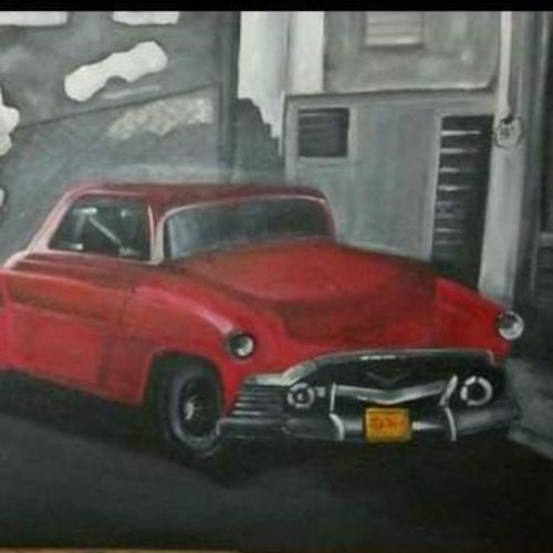 classic red car, 36 x 20 inch, jahan ara,36x20inch,canvas,modern art paintings,paintings for dining room,paintings for living room,paintings for bedroom,paintings for office,paintings for kids room,paintings for hotel,paintings for school,paintings for dining room,paintings for living room,paintings for bedroom,paintings for office,paintings for kids room,paintings for hotel,paintings for school,oil color,GAL03398147154