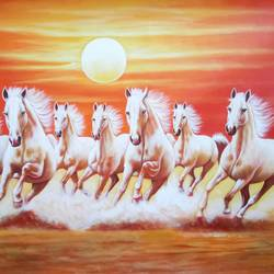 7 running horses-01, 36 x 24 inch, artoholic p,36x24inch,canvas,paintings,wildlife paintings,cityscape paintings,landscape paintings,conceptual paintings,art deco paintings,cubism paintings,expressionism paintings,illustration paintings,impressionist paintings,minimalist paintings,photorealism paintings,photorealism,realism paintings,surrealism paintings,realistic paintings,horse paintings,paintings for dining room,paintings for living room,paintings for bedroom,paintings for office,paintings for kids room,paintings for hotel,paintings for kitchen,paintings for school,paintings for hospital,acrylic color,GAL02078847163