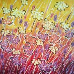 wild flowers, 8 x 10 inch, esther sandhya a,contemporary paintings,paintings for living room,canvas,acrylic color,8x10inch,GAL016634718