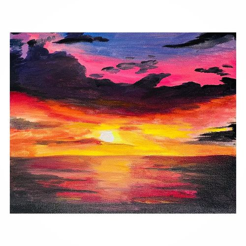 sunset, 10 x 12 inch, sayali zirpe,10x12inch,canvas,paintings,landscape paintings,paintings for living room,paintings for office,paintings for hotel,paintings for living room,paintings for office,paintings for hotel,oil color,paper,GAL03409047196