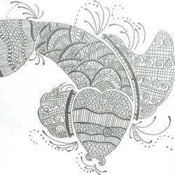fish doddle, 13 x 11 inch, somrita chatterjee,13x11inch,drawing paper,paintings,abstract paintings,graphite pencil,GAL03409347200