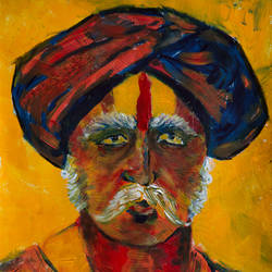 aparajit (undefeated), 11 x 14 inch, rutwij vaidya,11x14inch,ivory sheet,paintings,abstract paintings,figurative paintings,folk art paintings,modern art paintings,conceptual paintings,religious paintings,portraiture,surrealism paintings,contemporary paintings,paintings for living room,paintings for office,paintings for hotel,acrylic color,GAL03403347206
