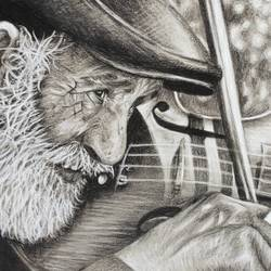 old man playing guitar, 12 x 8 inch, chandrakesh  singh,12x8inch,paper,drawings,figurative drawings,fine art drawings,photorealism drawings,portrait drawings,realism drawings,paintings for dining room,paintings for living room,paintings for bedroom,paintings for office,paintings for hotel,paintings for hospital,charcoal,graphite pencil,paper,GAL0705647211