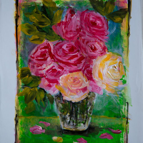 pink and lemon roses, 11 x 14 inch, rutwij vaidya,11x14inch,ivory sheet,abstract paintings,flower paintings,modern art paintings,still life paintings,realism paintings,surrealism paintings,contemporary paintings,love paintings,paintings for dining room,paintings for living room,paintings for bedroom,paintings for office,paintings for bathroom,paintings for kids room,paintings for hotel,paintings for kitchen,paintings for school,paintings for hospital,paintings for dining room,paintings for living room,paintings for bedroom,paintings for office,paintings for bathroom,paintings for kids room,paintings for hotel,paintings for kitchen,paintings for school,paintings for hospital,acrylic color,GAL03403347243