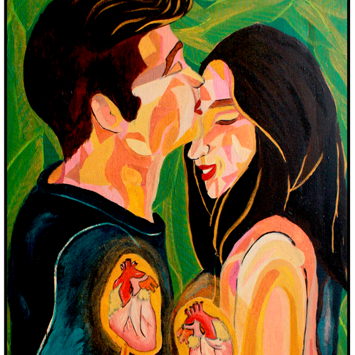 feel, 15 x 24 inch, sravanthi bathala,15x24inch,canvas,paintings,conceptual paintings,paintings for dining room,paintings for living room,paintings for bedroom,acrylic color,GAL0151747274