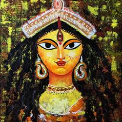 maa durga, 22 x 26 inch, akash bhisikar,22x26inch,canvas,paintings,abstract paintings,figurative paintings,folk art paintings,modern art paintings,conceptual paintings,religious paintings,still life paintings,portrait paintings,art deco paintings,pop art paintings,portraiture,realism paintings,surrealism paintings,contemporary paintings,love paintings,paintings for dining room,paintings for living room,paintings for bedroom,paintings for office,paintings for kids room,paintings for hotel,paintings for kitchen,paintings for school,paintings for hospital,acrylic color,GAL01828647315