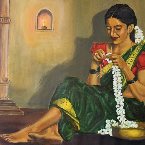 pujaran, 36 x 24 inch, subhash gijare,36x24inch,canvas,paintings,figurative paintings,paintings for dining room,paintings for living room,paintings for bedroom,paintings for office,paintings for kids room,paintings for hotel,paintings for school,paintings for hospital,oil color,GAL013847329