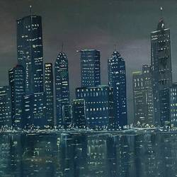 cityscape, 24 x 18 inch, subhash gijare,24x18inch,canvas board,paintings,cityscape paintings,paintings for dining room,paintings for living room,paintings for bedroom,paintings for office,paintings for bathroom,paintings for kids room,paintings for hotel,paintings for kitchen,paintings for school,paintings for hospital,oil color,GAL013847332