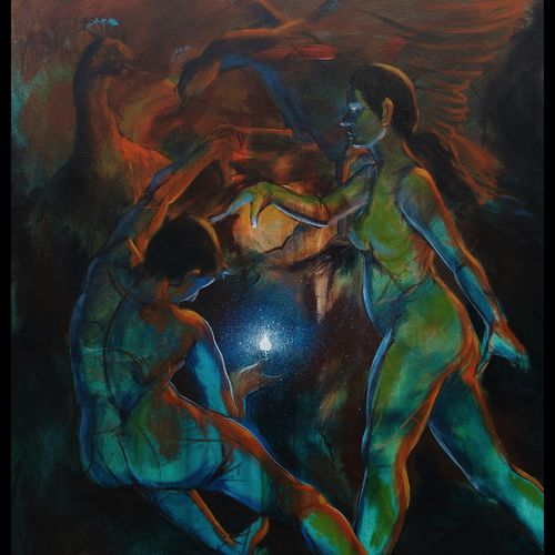 love commpation 02, 36 x 48 inch, ramachandra l,36x48inch,canvas,paintings,figurative paintings,conceptual paintings,abstract expressionism paintings,expressionism paintings,illustration paintings,realism paintings,paintings for living room,paintings for bedroom,paintings for bathroom,paintings for hotel,paintings for living room,paintings for bedroom,paintings for bathroom,paintings for hotel,acrylic color,GAL03421247353