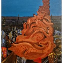 terracotta life , 36 x 48 inch, ramachandra l,36x48inch,canvas,paintings,figurative paintings,folk art paintings,cityscape paintings,landscape paintings,modern art paintings,conceptual paintings,still life paintings,nature paintings | scenery paintings,abstract expressionism paintings,photorealism paintings,pop art paintings,realism paintings,surrealism paintings,realistic paintings,paintings for dining room,paintings for living room,paintings for bedroom,paintings for office,paintings for hotel,paintings for school,paintings for hospital,acrylic color,GAL03421247367