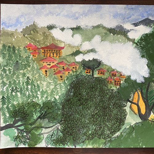a view from his room, 9 x 12 inch, vasundhara  singh,9x12inch,brustro watercolor paper,abstract paintings,wildlife paintings,landscape paintings,modern art paintings,nature paintings   scenery paintings,paintings for dining room,paintings for living room,paintings for bedroom,paintings for office,paintings for bathroom,paintings for kids room,paintings for hotel,paintings for kitchen,paintings for school,paintings for hospital,paintings for dining room,paintings for living room,paintings for bedroom,paintings for office,paintings for bathroom,paintings for kids room,paintings for hotel,paintings for kitchen,paintings for school,paintings for hospital,acrylic color,paper,GAL03421847377
