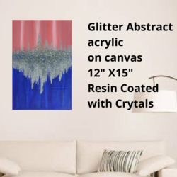glitter abstract acrylic painting on canvas, 12 x 15 inch, ekta mehra,12x15inch,canvas,paintings,abstract paintings,modern art paintings,paintings for dining room,paintings for living room,paintings for bedroom,paintings for office,paintings for bathroom,paintings for kids room,paintings for hotel,paintings for kitchen,paintings for school,paintings for hospital,acrylic color,ink color,GAL03422847397
