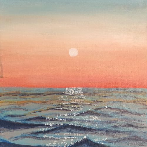 sunset seascape painting, 10 x 12 inch, ritul kolhe,10x12inch,canvas board,paintings,landscape paintings,nature paintings | scenery paintings,illustration paintings,paintings for dining room,paintings for living room,paintings for bedroom,paintings for office,paintings for bathroom,paintings for kids room,paintings for hotel,paintings for kitchen,paintings for school,paintings for hospital,acrylic color,GAL02939747404