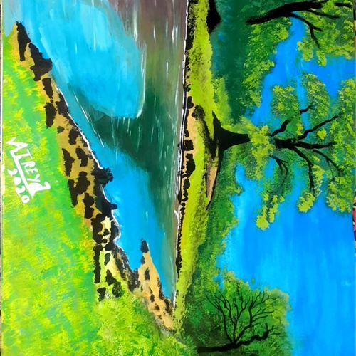 song of river , 12 x 17 inch, atreya  shukla ,12x17inch,paper,wildlife paintings,paintings for dining room,paintings for living room,paintings for bedroom,paintings for office,paintings for kids room,paintings for hotel,paintings for school,paintings for dining room,paintings for living room,paintings for bedroom,paintings for office,paintings for kids room,paintings for hotel,paintings for school,acrylic color,paper,GAL02160747435