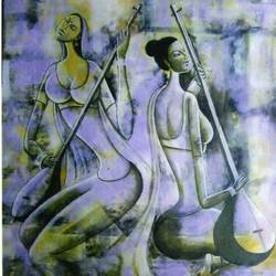 riyaaz, 21 x 26 inch, kirtiraj mhatre,figurative paintings,paintings for living room,paper,acrylic color,21x26inch,GAL016814749