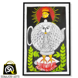 the globe owl, 30 x 48 inch, sonajuri  arts,30x48inch,thick paper,paintings,folk art paintings,natural color,GAL03437047519
