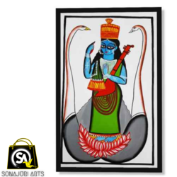 the goddess of knowledge, 30 x 48 inch, sonajuri  arts,30x48inch,thick paper,paintings,folk art paintings,natural color,GAL03437047521