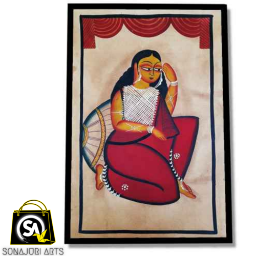 leisure restrospect, 30 x 48 inch, sonajuri  arts,30x48inch,thick paper,paintings,folk art paintings,natural color,GAL03437047532