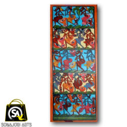 cultural & colorful village flocks, 24 x 84 inch, sonajuri  arts,24x84inch,thick paper,paintings,folk art paintings,natural color,GAL03437047551