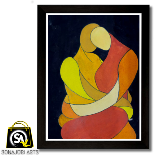 the cuddle – water color painting – aditi biswas, 15 x 11 inch, sonajuri  arts,15x11inch,thick paper,paintings,abstract paintings,modern art paintings,watercolor,GAL03437047597