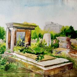 landscape 3, 30 x 24 inch, chinmoy pandit,30x24inch,paper,paintings,cityscape paintings,landscape paintings,nature paintings   scenery paintings,paintings for dining room,paintings for living room,paintings for bedroom,paintings for office,paintings for kids room,paintings for hotel,paintings for school,paintings for hospital,watercolor,GAL094647621