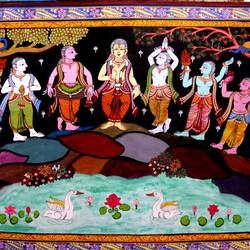 sankirtan of cultural odisha, 48 x 30 inch, k. srinivas rao,religious paintings,paintings for living room,canvas,acrylic color,48x30inch,GAL016914767