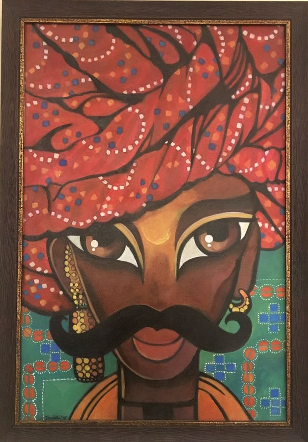 banna , 14 x 20 inch, tavishi kanoria,figurative paintings,paintings for living room,canvas,,14x20inch,GAL013964772